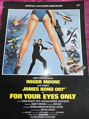 James Bond 007 Official Souvenir Brochure. For Your Eyes Only. 16 Pages. 1981K