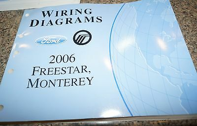 2006 ford taurus oem electrical wiring diagrams service manual 2006 ford star monterey evtm wiring diagrams service manual