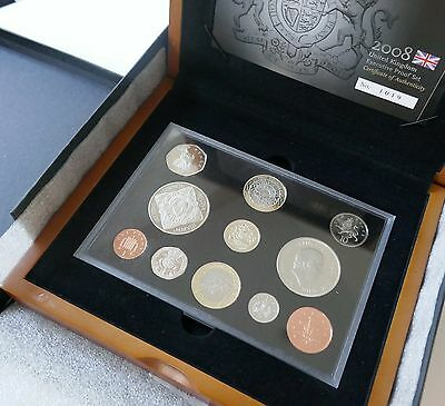 Executive 2008 Royal Mint, Proof Mint Boxed Set in Wooden Display Case