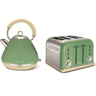 Morphy Richards Sage Green Kettle and 4 Slice Toaster - Accents 102011 / 242006