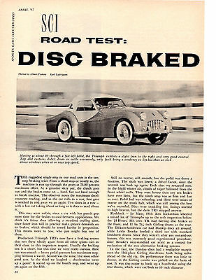 1957 Triumph Tr-3 / Tr3 Disc Braked  ~  Original 5-Page Road Test / Article / Ad