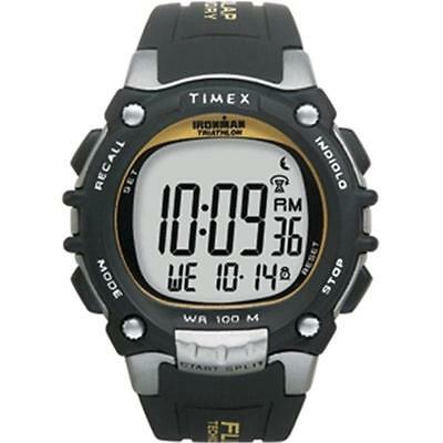 Ironman Traditional 100-Lap with Flix System Black-Silver-Yellow Watch