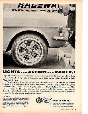 1965 Ford Mustang  ~  Original Rader Wheel Ad