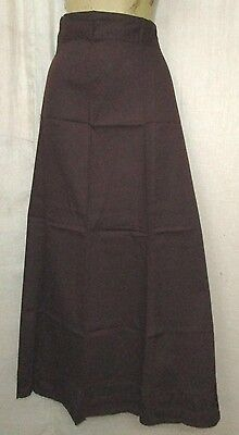 Light Coffee Pure Cotton Frill Petticoat Skirts Sari Plussize Low Cost NR #OHWLE