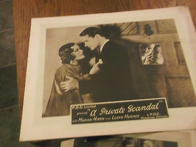Extremely Rare 7 Original Lobby Cards 1931 Film A Private Scandal -Marian Nixon