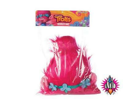 Official Trolls Princess Poppy Novelty Plush Hat Wig Head Ware Adults Youths