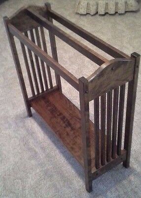 New Solid Cherry Wood Mission Style Quilt Rack Stand / Blanket Stand Towel Rack