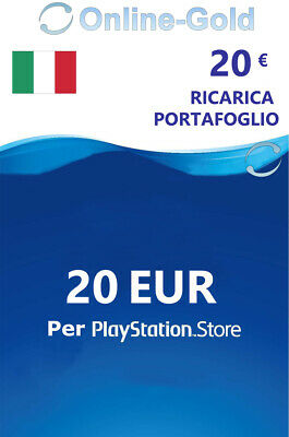 20 EURO PlayStation Scheda carte prepagate 20€ Eur Sony PSN PS3 PS4 PS Vita - IT