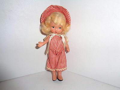 Nancy Ann Bisque Storybook Doll #78 Margie Ann in Playsuit Pudgy Jointed Legs
