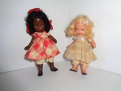Nancy Ann Bisque Storybook Doll #176 Topsy & Eva Pudgy Jointed Legs