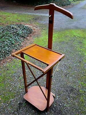 Vintage  French Mid Century Wooden  Butlers Stand