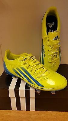 Adidas RS7 TRX SG II Rugby Boots Lime/Blue/Silver Size UK 6 + 7