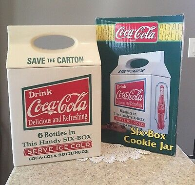 Drink Coca Cola Six Box Save The Carton Cookie Jar With Box