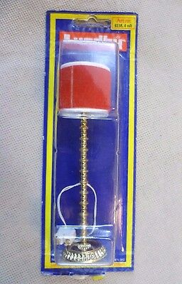 Vintage Dolls House Carded Lundby Electric Standard Lamp With Red Shade