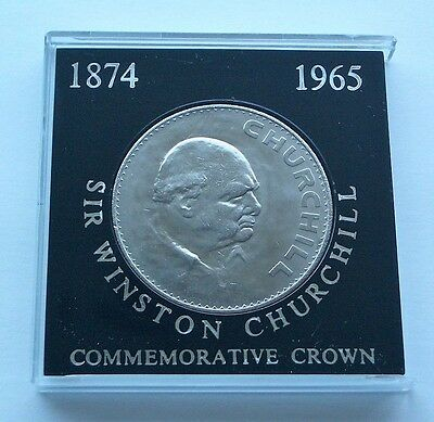 1965 Winston Churchill Death Crown (1874 - 1965) - Commemorative Coin In Mount
