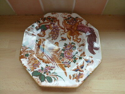 Royal Crown Derby ~ Olde Avebsury A73 Hexagonal Shallow Bowl Dated 1989