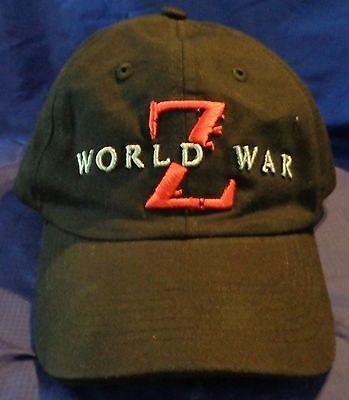 EJ003 Paramount Pictures World War Z Promo Baseball Style Cap Hat June 2013 NEW
