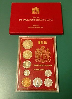 1972 Central Bank of Malta Proof Set #S