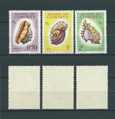 COMORES - 1962 YT 19 à 21 - TIMBRES NEUFS** LUXE