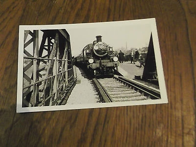 Real Photo  Postcard  Of Steam Engine  Going To Portland From Melcombe Regis