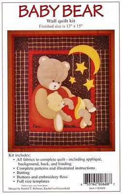 "BABY BEAR WALLHANGING QUILT KIT 13x15"" Rachel's of Greenfield QUILTING Patchwork"
