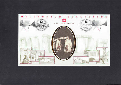 2000 New Millenium English Heritage Benham Official First Day Cover