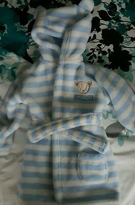 baby boy blue george dressing gown 6-9 months