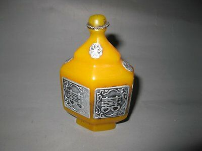 Rare old Qing Dynasty Tibet silver& beeswax snuff bottle,with mark,best collecti