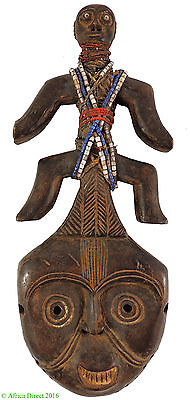 Namchi or Namji Fertility Doll Mask Beaded Cameroon Africa SALE WAS $99