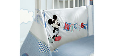 *NEW* Disney Mickey Mouse Sailor Cot Bumper Baby Boy Blue 35x155 cm Embroidery