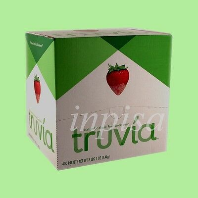 TRUVIA 3 BOXES x 400 PACKETS NATURE'S CALORIE FREE SWEETENER