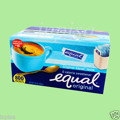 EQUAL 6 BOXES x 800 (4,800) PACKETS NO CALORIE SWEETENER