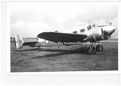 French Air Force Beech C-45 47516 Vintage Photograph