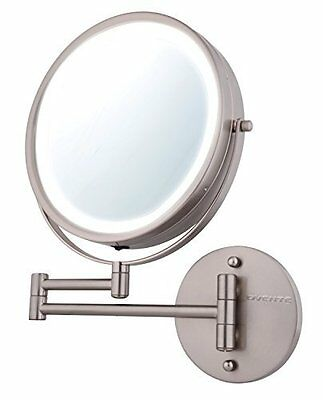 Battery Operated LED Wall mount 1x/10x Magnification Makeup Mirror by Ovente