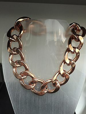 GUESS BY MARCIANO  Elory Chunky Chain NECKLACE In Rose gold