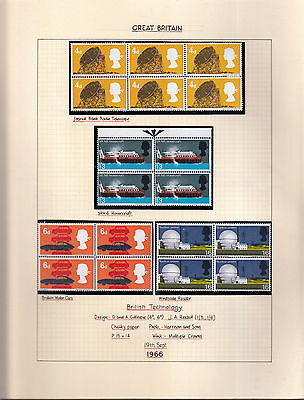 British Technology 1966 Blocks Inc Phosphor. Mint/used Detailed Collection