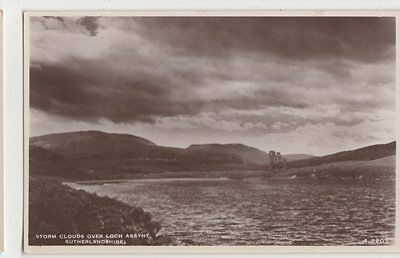 Storm Clouds over Loch Assynt, Sutherland RP Postcard, B321