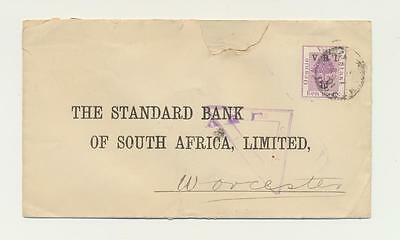 SOUTH AFRICA BOER WAR CENSOR COVER, ORANGE FREE STATE 1901, TO UK, 1d on 1d RATE