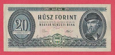 1975 Hungary 20 Forint Note Unc