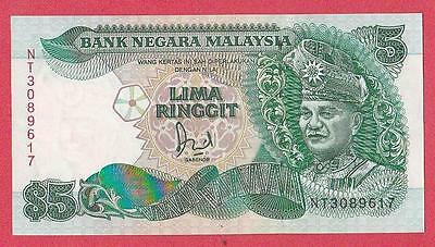 1991 Malaysia 5 Ringgit Note Unc
