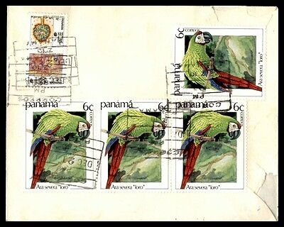 Panama Multifranked Parrot Bird Issues Cover To New Hyde Park Usa