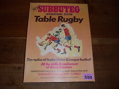 Subbuteo Rugby Boxed Table Top Game Sale Sheffield / Wigan Complete lot 550