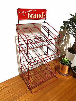 70S 80S Vintage Red Wire Rack For Stationary Or Display Props By Brand's