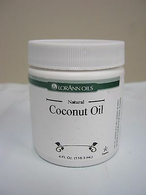 LorAnn Coconut Oil Natural (Flavorless) 4 oz Unscented Candy Making Supplies