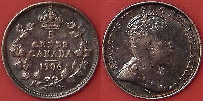 Very Fine 1906 Canada Silver 5 Cents