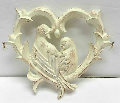 """5"""" Love Birds Hand Painted Ornament/Wall Hanging!"""
