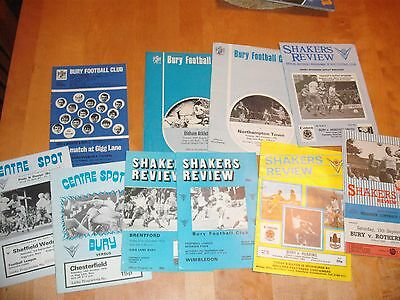 10 Old Bury  Home Football Programmes