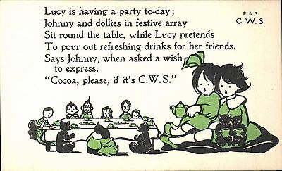 Advertising. CWS Cocoa. Lucy Is Having a Party.