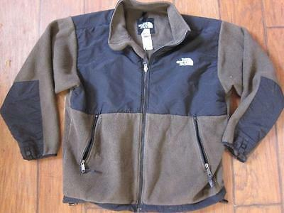 The North Face Denali brown blk zip up jacket fleece youth XL boys winter jacket