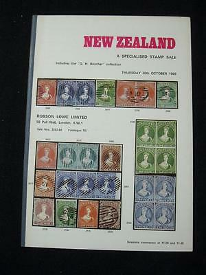 ROBSON LOWE AUCTION CATALOGUE 1969 NEW ZEALAND with 'BOUCHER' COLLECTIONS